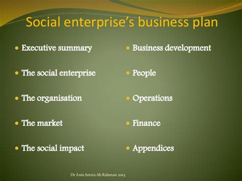 Social Enterprise Business Plan Sample