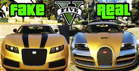 fake lamborghini vs real gta v fake to real mod truffade adder to bugatti