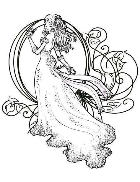 coloriage de princesse disney gratuit  imprimer adult
