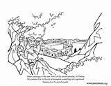 Coloring Jewish Chanukah Chabad Jerusalem Crafts Jews Divided King Alexander sketch template