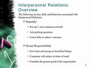 Interpersonal relations: How to Collaborate with and Lead ...