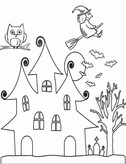 Halloween Coloring Sheets Pages Printable Witch Flying