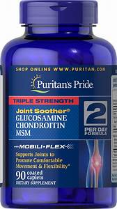Triple Strength Glucosamine  Chondroitin  U0026 Msm Joint Soother U00ae 90 Caplets