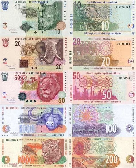 south rand currency feauturing the big 5
