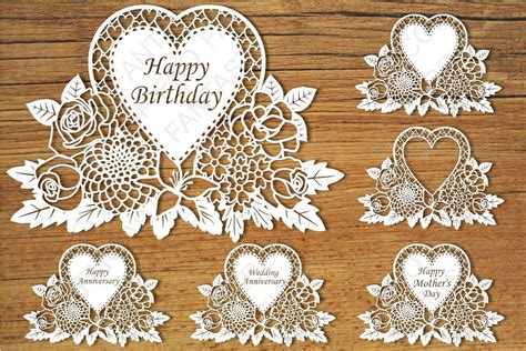 Welcome to our free svg files page! Floral Greeting Card SVG files for Silhouette and Cricut.