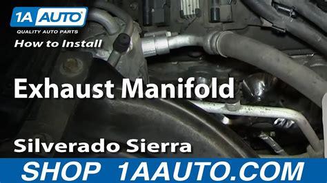 install replace exhaust manifold  silverado