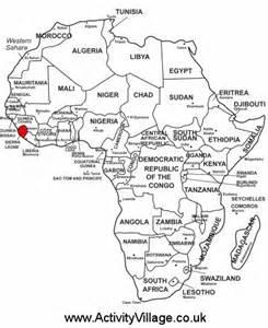 Sierra Leone on map of Africa Sierra Leone
