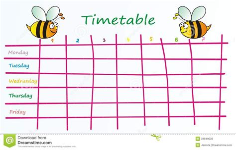 black table runner timetable clipart clipground