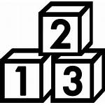 Blocks Number Icon Toys Block Numbers Cube