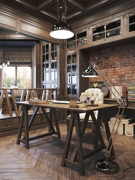 bureau industriel vintage 21 industrial home office designs with stylish decor