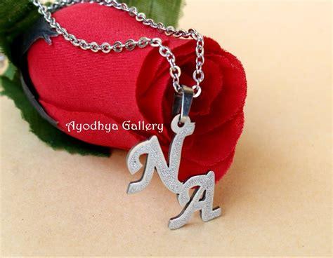 jual pr1799 kalung nama inisial grafir aksen kalung nama custom monel silver di lapak mandiri