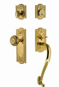 Parthenon Plate S Grip Entry Set With Parthenon Knob