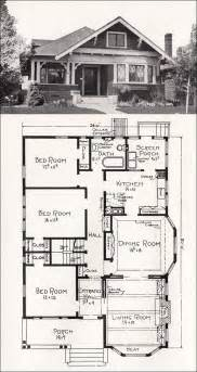 large bungalow house plans transitional bungalow floor plan c 1918 cottage house plan by e w stillwell vintage los
