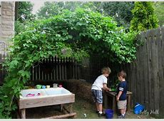 Backyard hideout with passion flower vines Betty Hall