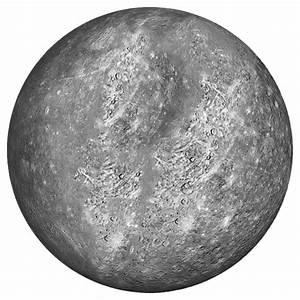 Planet Mercury transparent background
