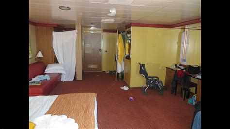 carnival dream cruise large cabin room  youtube