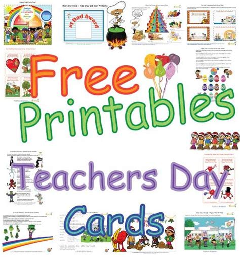 cute teachers day cards  kids healthy foods