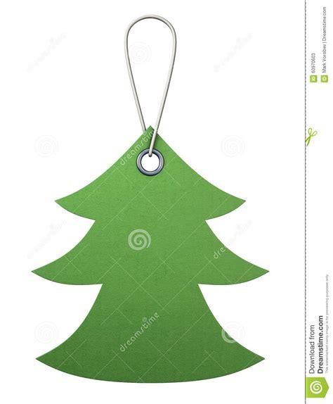 etiqueta verde de la cartulina bajo la forma de 225 rbol de