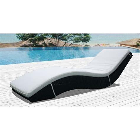 chaise longue resine tressee ondine bain de soleil ondulé résine tressée achat