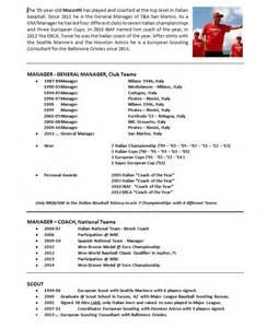 resume for coaching baseball baseball coaching resume exles