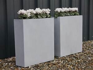 Blumenkübel Als Raumteiler : raumteiler divido aus fiberglas in betongrau bei east ~ Michelbontemps.com Haus und Dekorationen