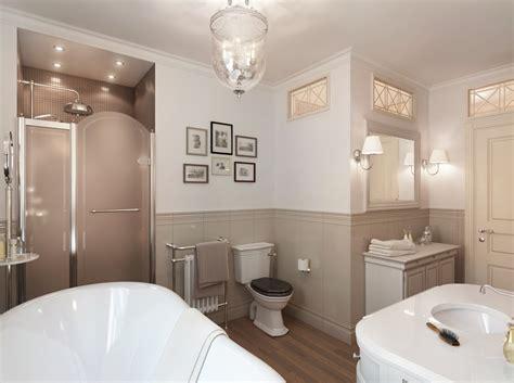 Neutral Traditional Bathroom  Interior Design Ideas