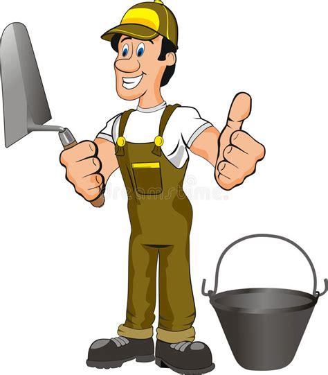 clipart muratore fumetto muratore illustrazione vettoriale