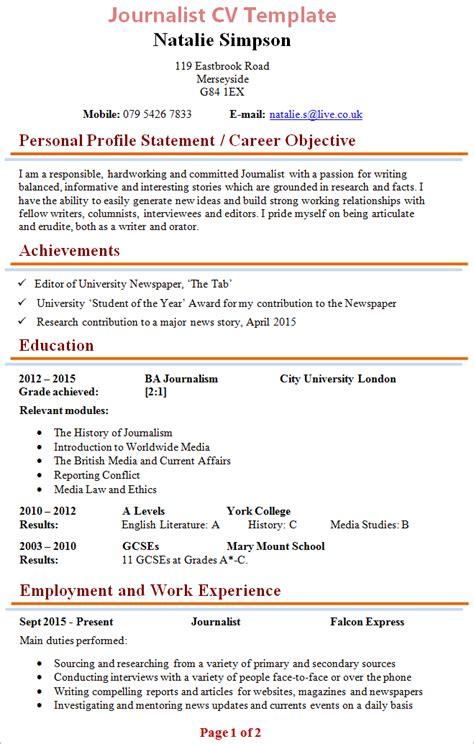 28 journalist resume template resume cover letter