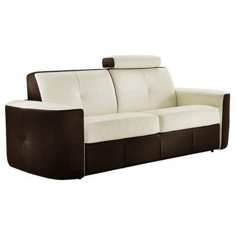 canape lit confortable canapé lit convertible cuir bicolore rapido verysofa vanity