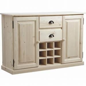 Meuble A Bouteille : meuble de cuisine avec casier bouteilles en bois brut ~ Dallasstarsshop.com Idées de Décoration