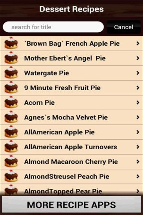 list of dessert names dessert recipes cookbook android apps on play