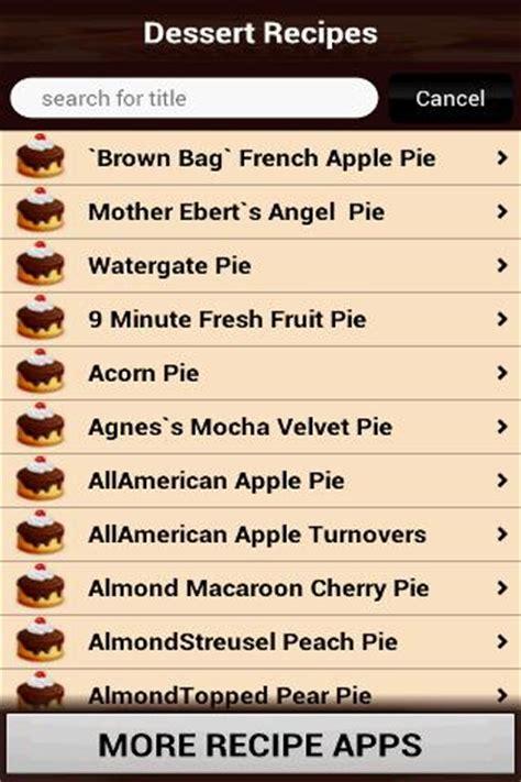 desserts list driverlayer search engine