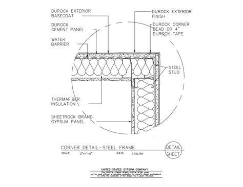 USG Design Studio   09 21 16.03.225 DUROCK Corner Detail