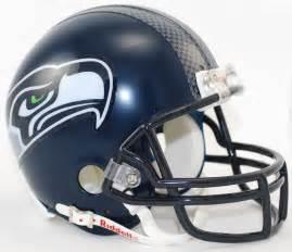 Seattle seahawks replica mini helmet w/ z2b face mask