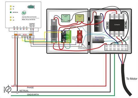 single phase submersible motor starter wiring diagram