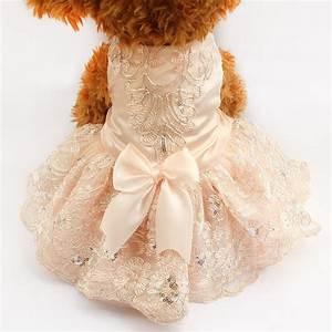 Armi store sequins lace embroidered dog dress princess for Dog wedding dresses