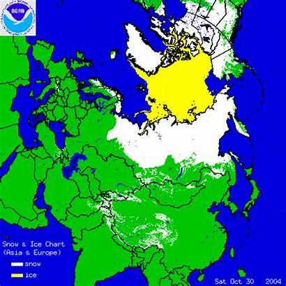 Snow Siberian Growth Ice Eurasian Arctic Charts