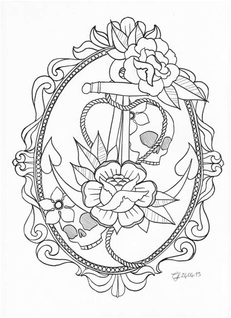 Anchor tattoo by CLLU on deviantART | Anchor tattoo design