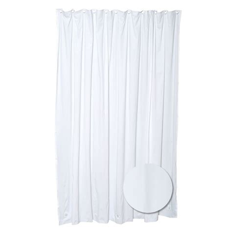 zenna home heavy gauge shower liner white the home