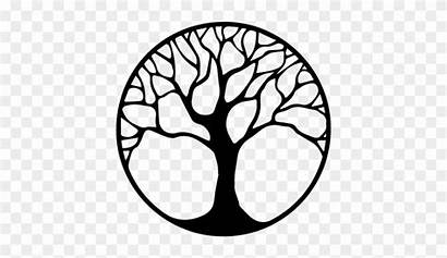 Tree Silhouette Clipart Transparent Middle Library