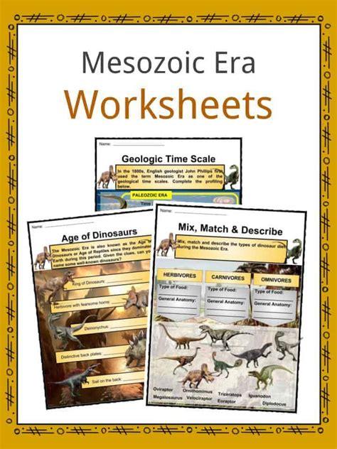 mesozoic era age of dinosaurs facts worksheets