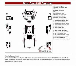 Dash Kit Decal Auto Interior Trim For Cadillac Cts Cts