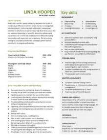 data entry profile resume entry level resume templates cv sle exles free student college graduate