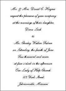 wedding invitation wording sles traditional wedding invitation wording the wedding specialiststhe wedding specialists