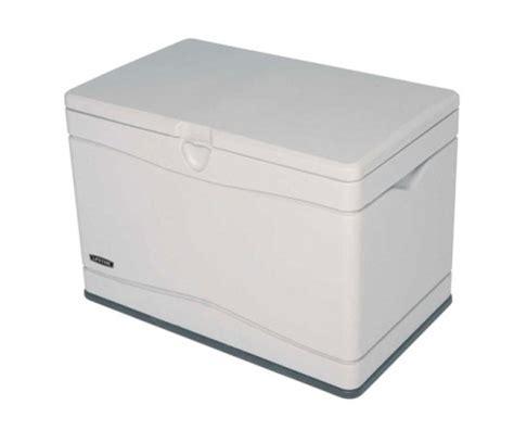 lifetime sheds 80 gallon plastic deck storage box 60059