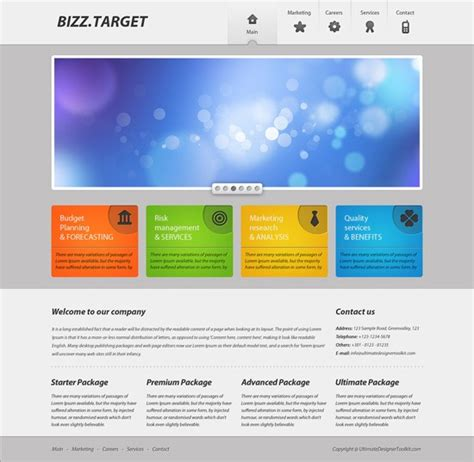 excellent photoshop web design layout tutorials