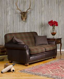 canape anglais montrose en cuir et tissus laine With canapé cuir et tissu