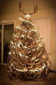 deer antler christmas tree