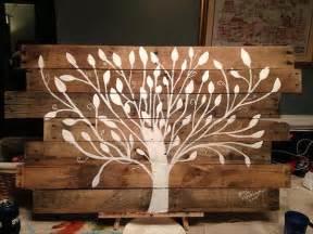 Wood Pallet Wall Art Tree