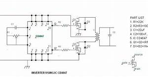 Modifying A 4047 Ic Inverter Into Sine Wave Inverter
